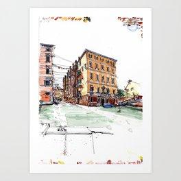 Venice ghetto Art Print