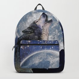 A One Wolf Moon Backpack