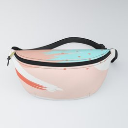 Abstract Minimal Beach With Dots Fanny Pack