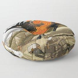 Disaster Strikes Floor Pillow