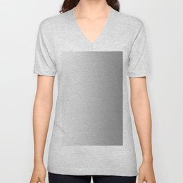 White to Gray Vertical Linear Gradient Unisex V-Neck
