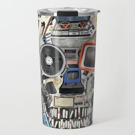 retro tech skull 5 Travel Mug