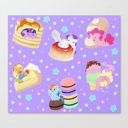 Ponies x Sweets Canvas Print