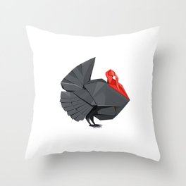 Origami Turkey Throw Pillow