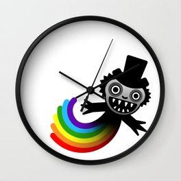 Babadooks and Rainbows Wall Clock