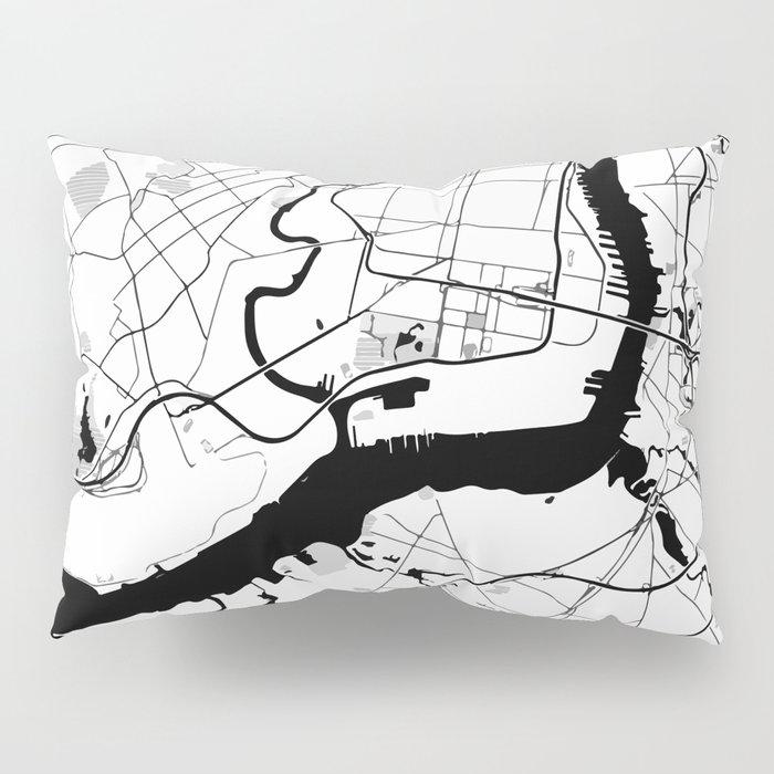 Philadelphia Minimal Map Pillow Sham