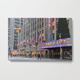 Radio City Music Hall, NYC Metal Print