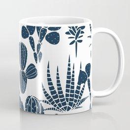 Navy blue cactus monochrome design Coffee Mug