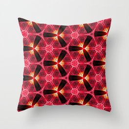 Chainlink Pattern (red) Throw Pillow
