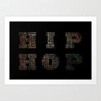 hip hop Art Prints featuring HIP HOP by kreatox