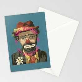 Vintage Paint By Number PBN Mo Money Clown Stationery Cards