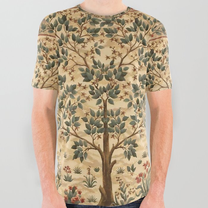 William_Morris_Tree_of_life_3_All_Over_Graphic_Tee_by_Alexandra_Arts__Small