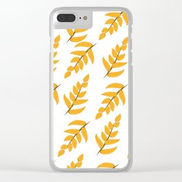 Orange leaves and branches Clear iPhone Case
