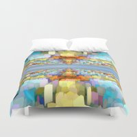 sci fi Duvet Covers featuring Sci Fi Horizons by Phil Perkins
