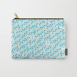 blue dots photography backdrop, blue, boy, pattern, baby Carry-All Pouch
