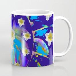 MODERN ART GARDEN BLUE SPIRAL &  DAFFODILS ART Coffee Mug