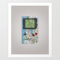 Game Boy Traveler: SF Bay Area Art Print