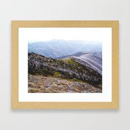 frosty Australian landscape Framed Art Print