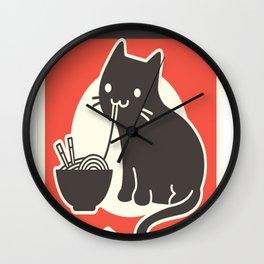 Kawaii Vintage Style Japenese Ramen Cat Wall Clock