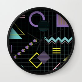 Memphis Pattern 4 - 80s Retro Wall Clock
