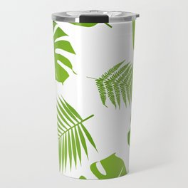 Tropical seamless pattern with palm and fern Travel Mug
