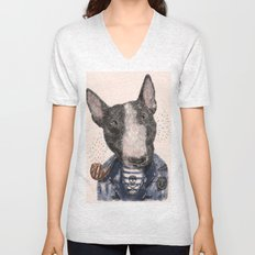 Mr.Bullblack Unisex V-Neck