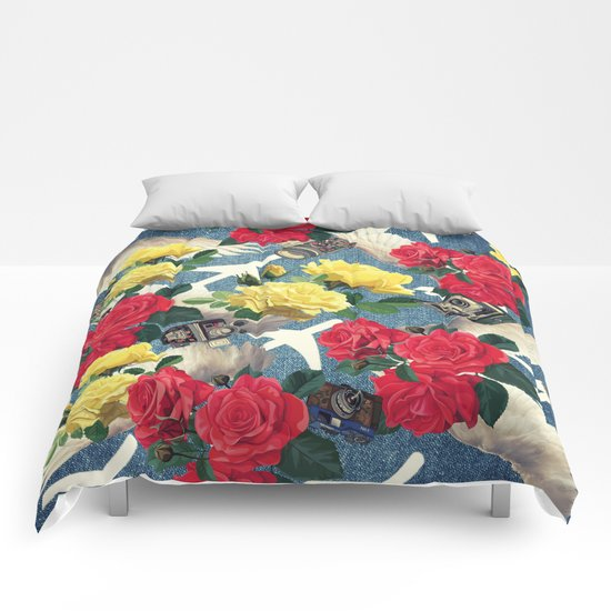 abstract flowers ,pattern  Comforters