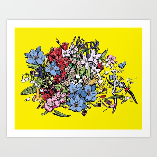 Flowers in Color Art Print
