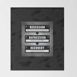 No Recovery With Obama Throw Blanket