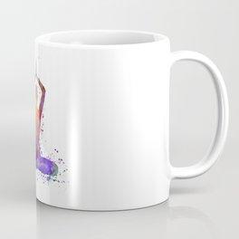Yoga woman 01 in watercolor splatter Coffee Mug