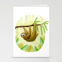 sloth Stationery Cards featuring Sloth by Kirsten Sevig