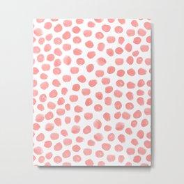 Natalia - abstract dot painting dots polka dot minimal modern gender neutral art decor Metal Print
