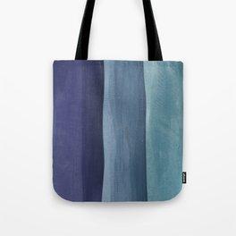 Blue Gradient on Wood Tote Bag