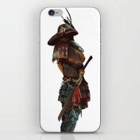 samurai iPhone & iPod Skins featuring Samurai by Alba Palacio