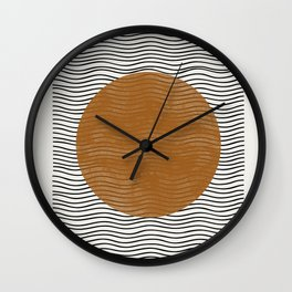 Modern Waves Wall Clock
