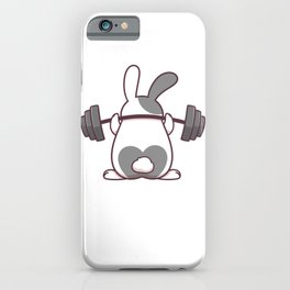 Funny Bunny Gift, Workin On My Buns, Funny Workout Shirt, Fitness Shirt, Gym Motivation iPhone Case