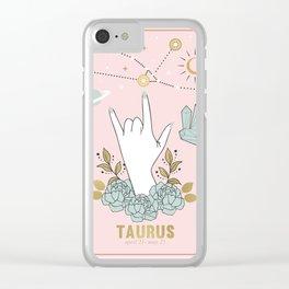 Taurus Zodiac Series Clear iPhone Case