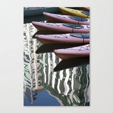 Kayak Reflections Canvas Print