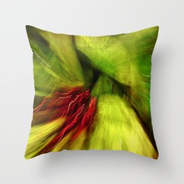 Abstract Red & Green Throw Pillow