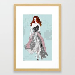 Red Head Swagger Framed Art Print