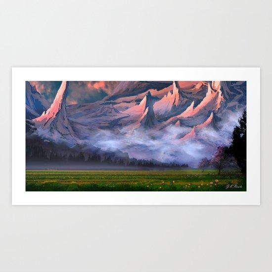 Dusk Valley Art Print