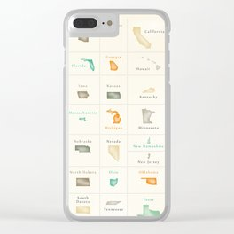 Federal states of the USA overview Clear iPhone Case