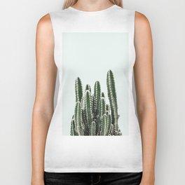 Blue Sky Cactus Biker Tank