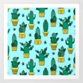 Cactus Pattern Cute Decoration Art Print