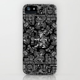 Mayan Spring B&W II iPhone Case