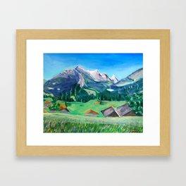 View from Haslital, Switzerland Framed Art Print