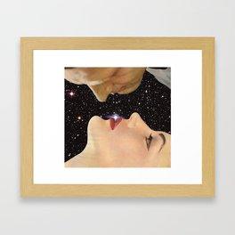 Interstellar kiss Framed Art Print