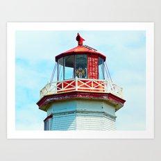 North Cape Lighthouse Top Art Print