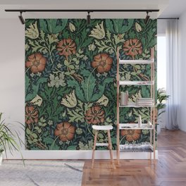 William Morris Compton Floral Art Nouveau Pattern Wall Mural