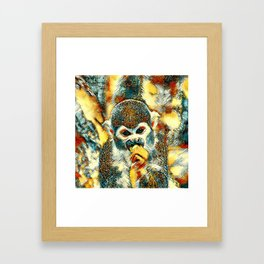 AnimalArt_Monkey_20180204_by_JAMColorsSpecial Framed Art Print
